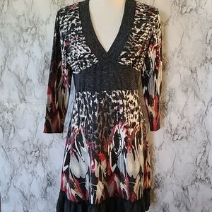 Young threads sweater dress size large